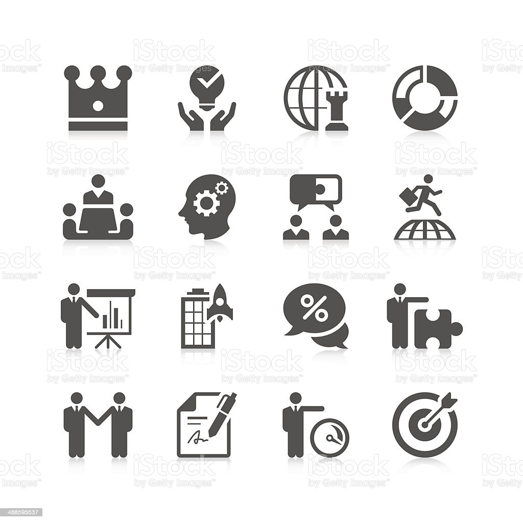 Business & strategy Icon Set | Unique Series vector art illustration