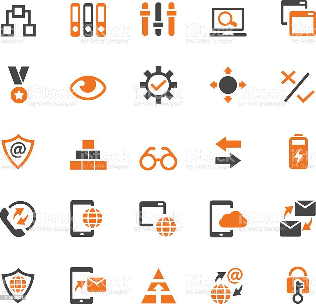 Business strategy icon set vector art illustration