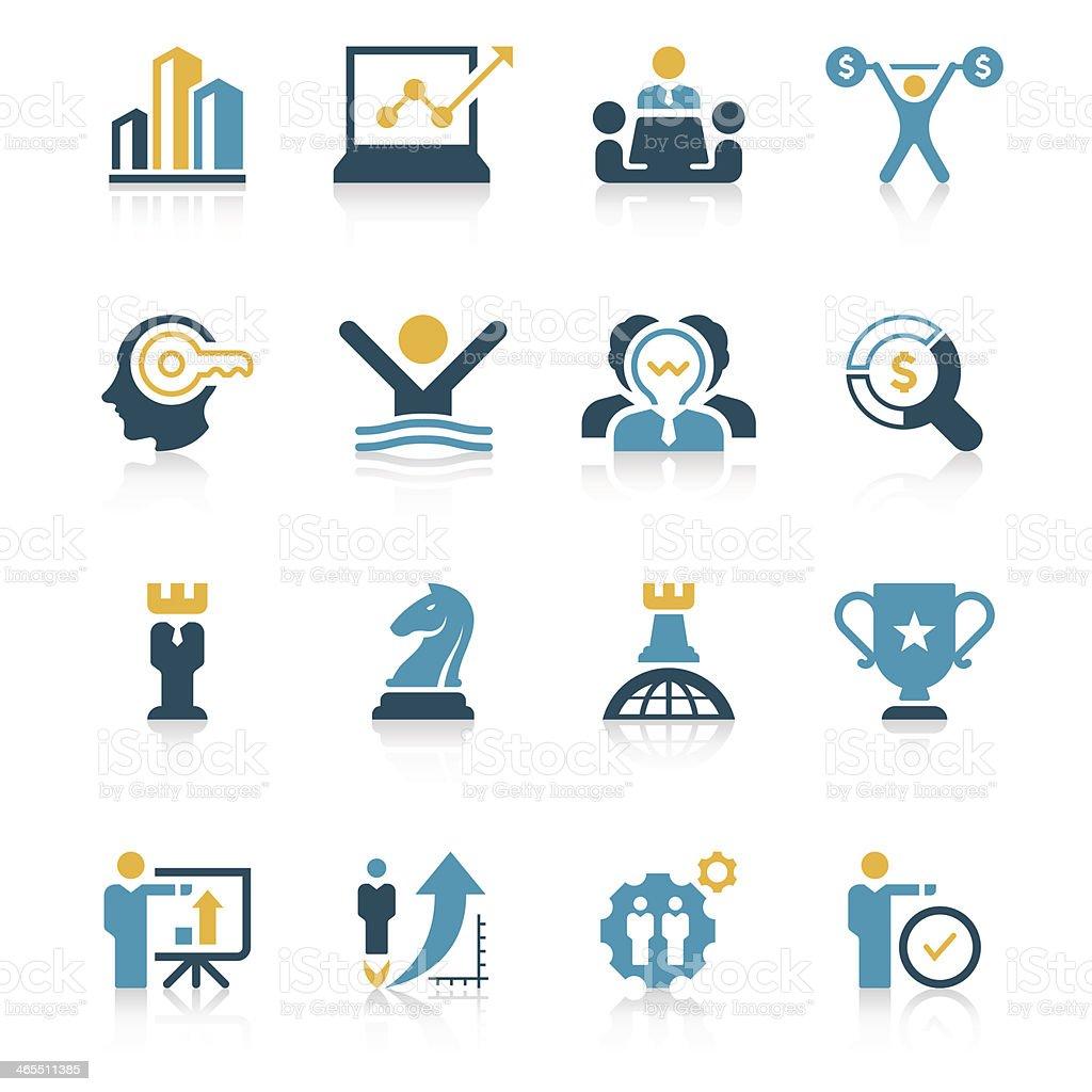 Business Strategy Icon Set | Vivid Series vector art illustration