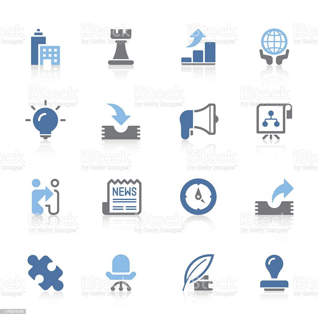 Business & strategy icons | Azur series royalty-free stock vector art