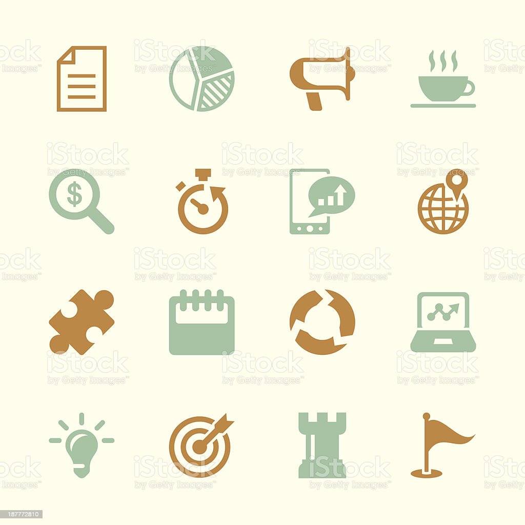 Business Strategy Icons - Color Series   EPS10 royalty-free stock vector art