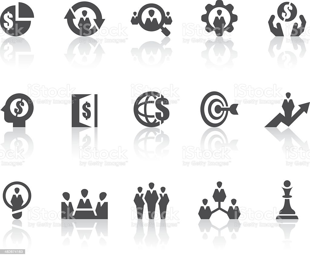 Business Strategy Icons | Simple Black Series vector art illustration