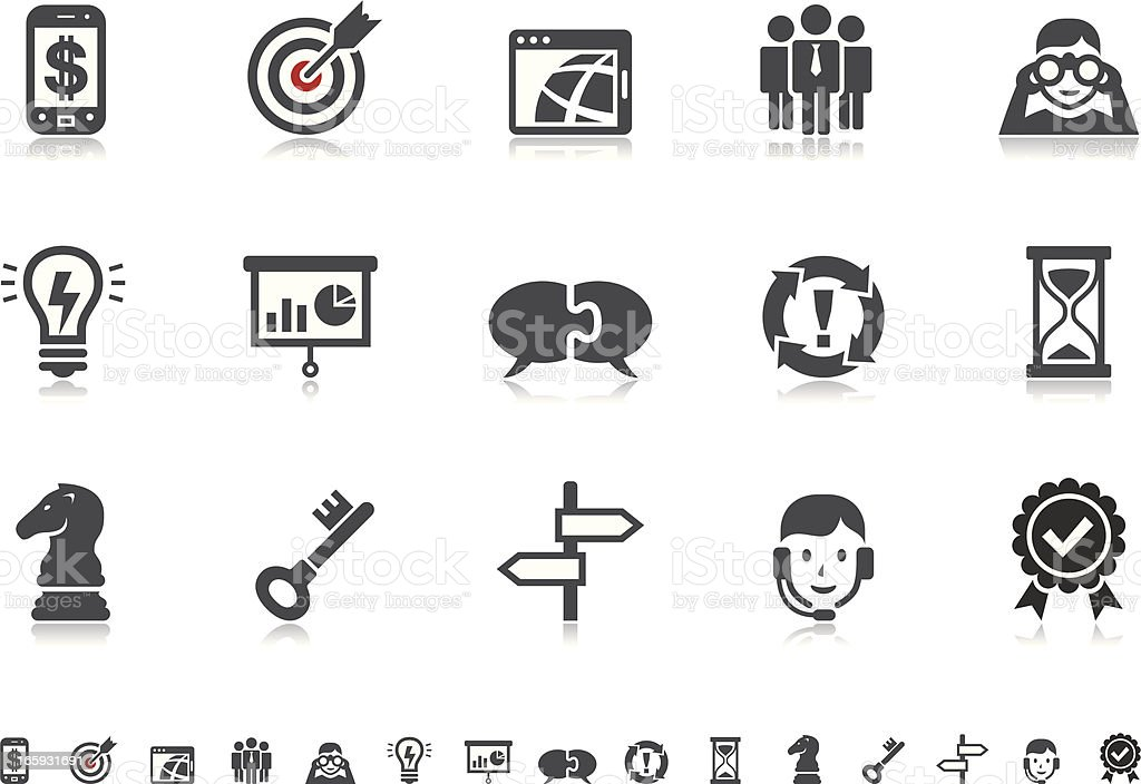 Business Strategy & Management icons | Pictoria series vector art illustration
