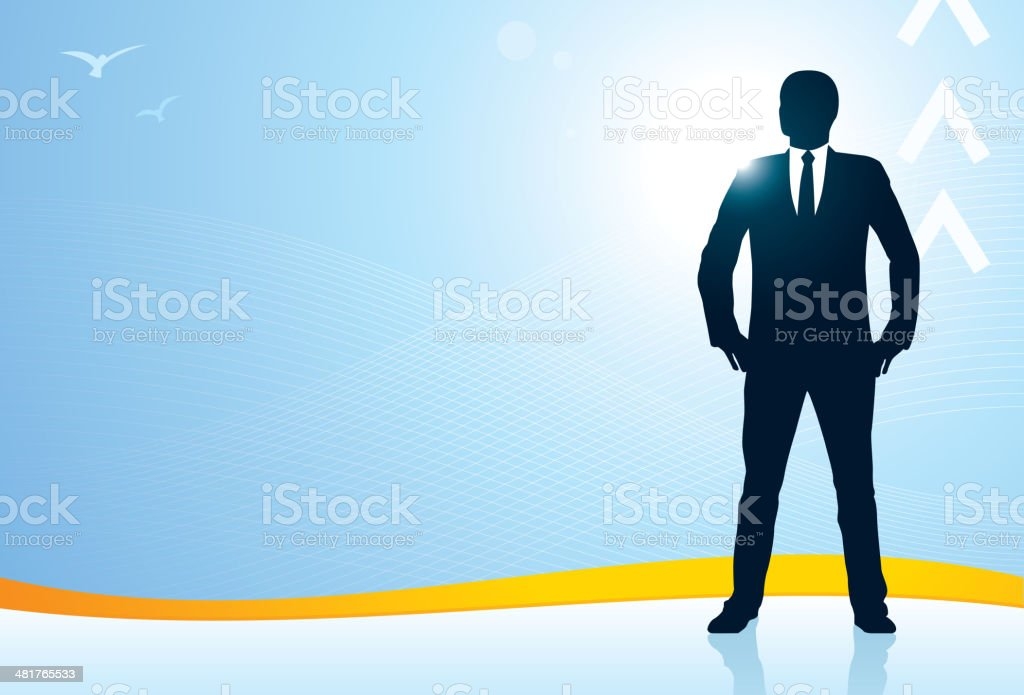 Business success background royalty-free stock vector art