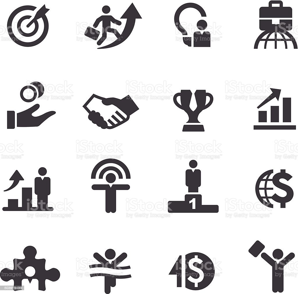 Business Success Icons - Acme Series vector art illustration