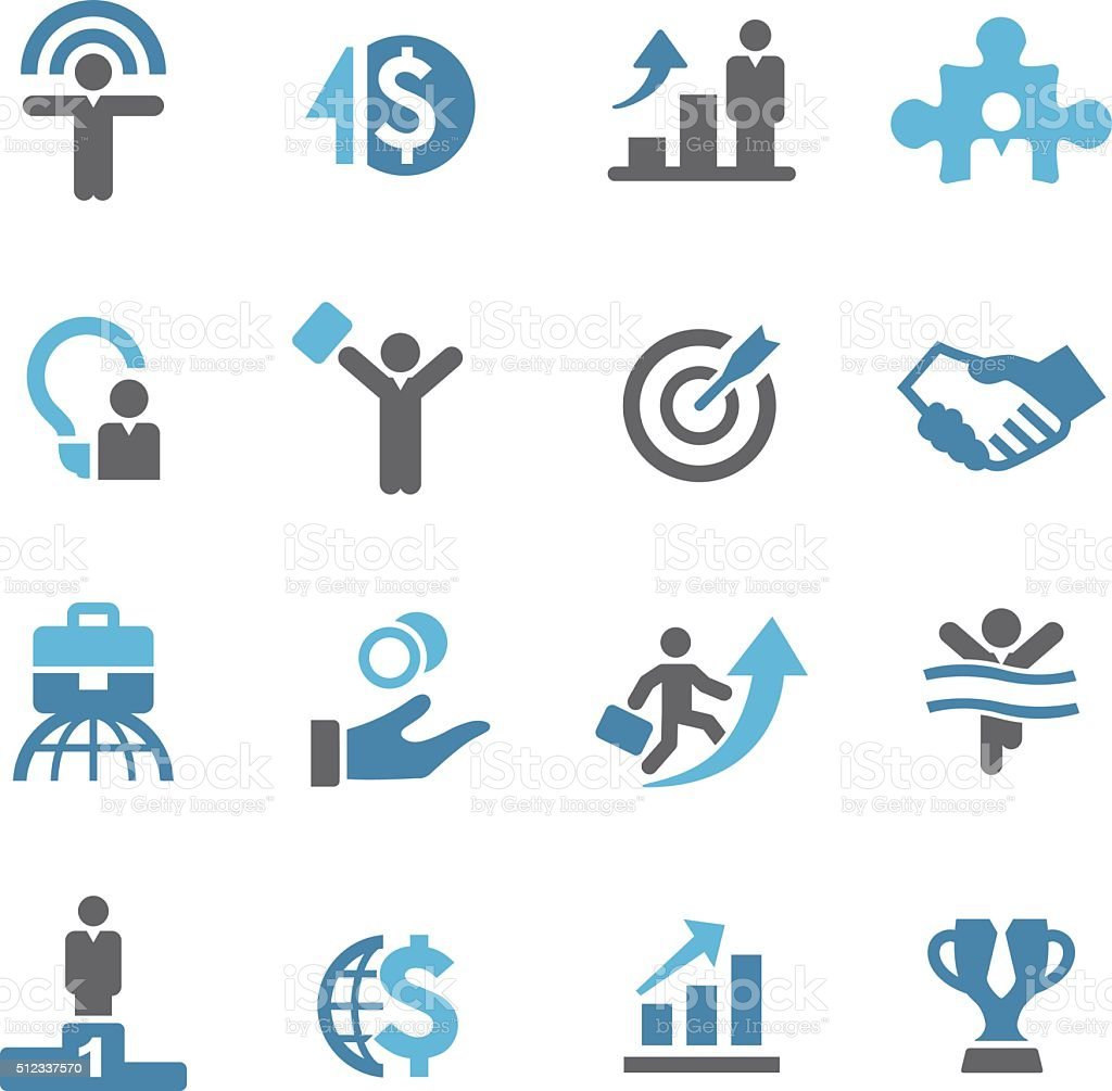 Business Success Icons - Conc Series vector art illustration
