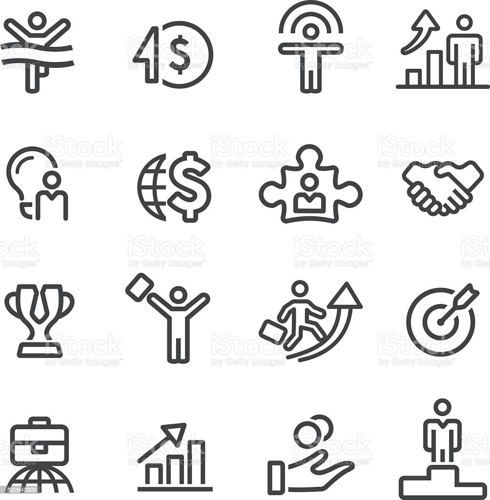 Business Success Icons - Line Series vector art illustration