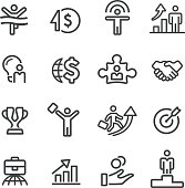 Business Success Icons - Line Series