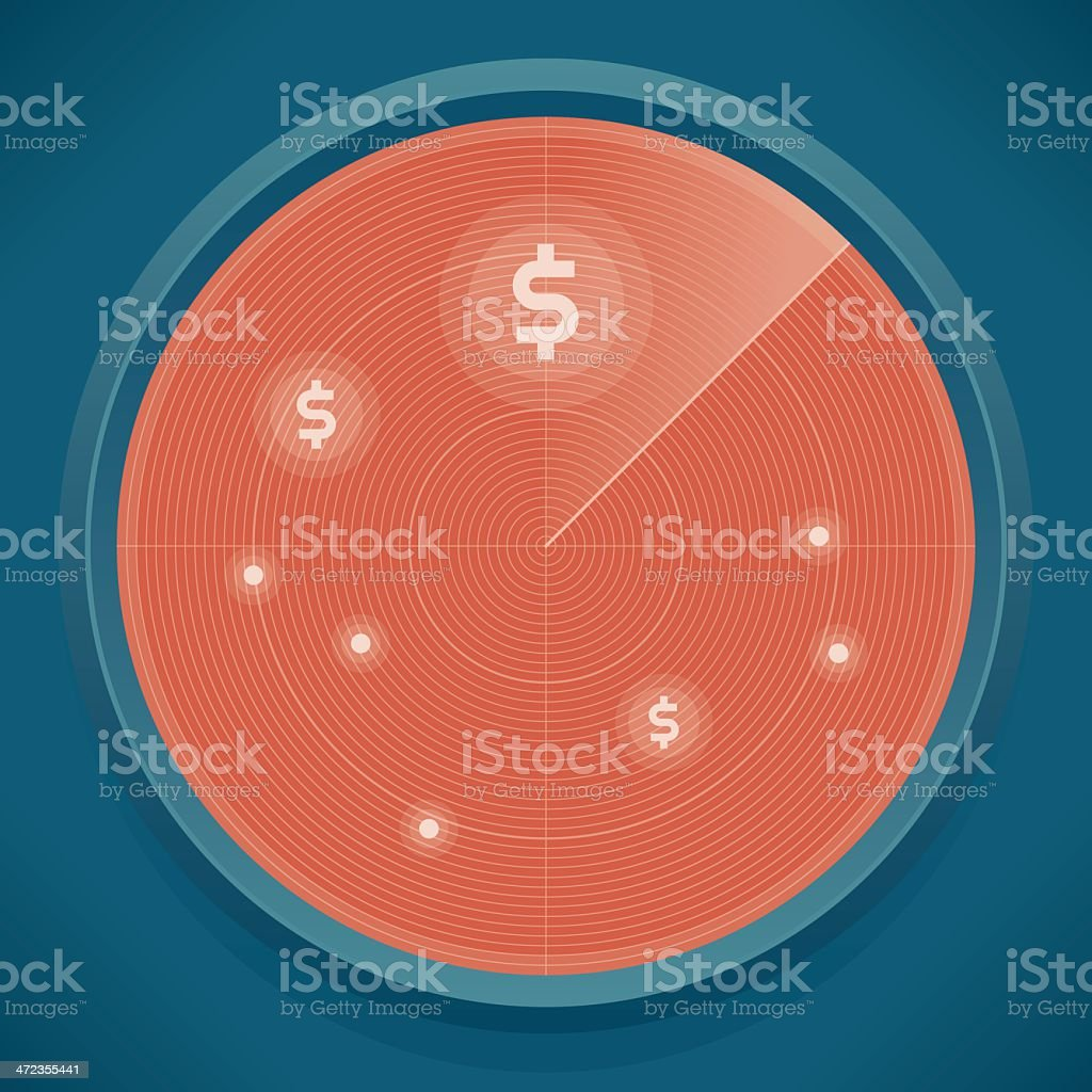 Business Success Radar royalty-free stock vector art