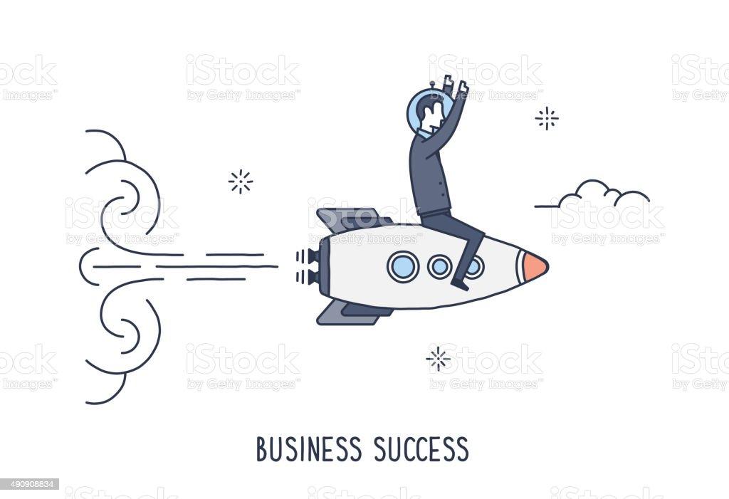 Business Success vector art illustration