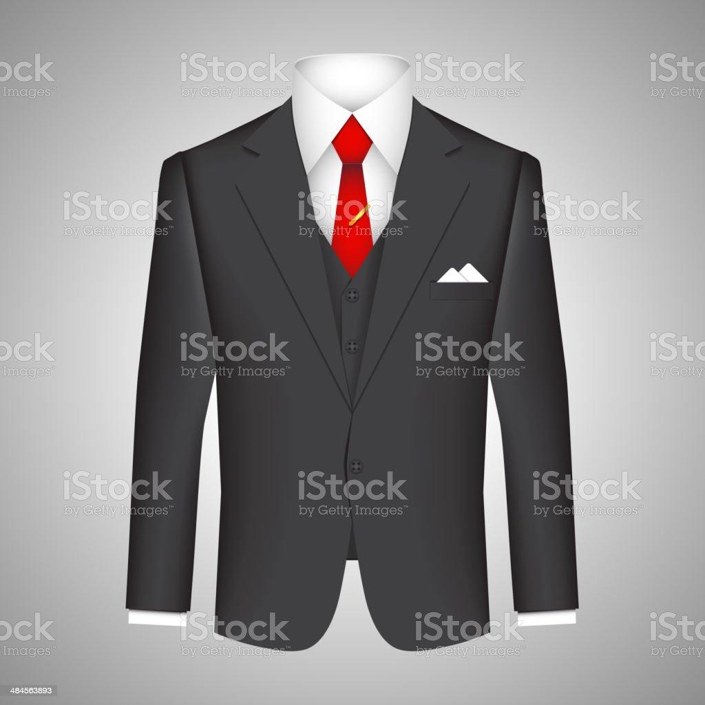 Business suit concept vector art illustration