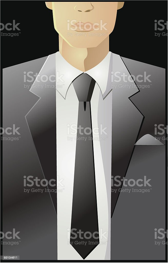 Business Suit Vector royalty-free stock vector art