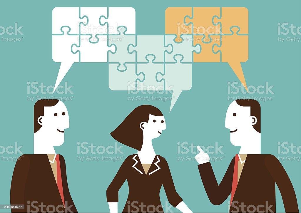 Business Talk   New Business Concept vector art illustration
