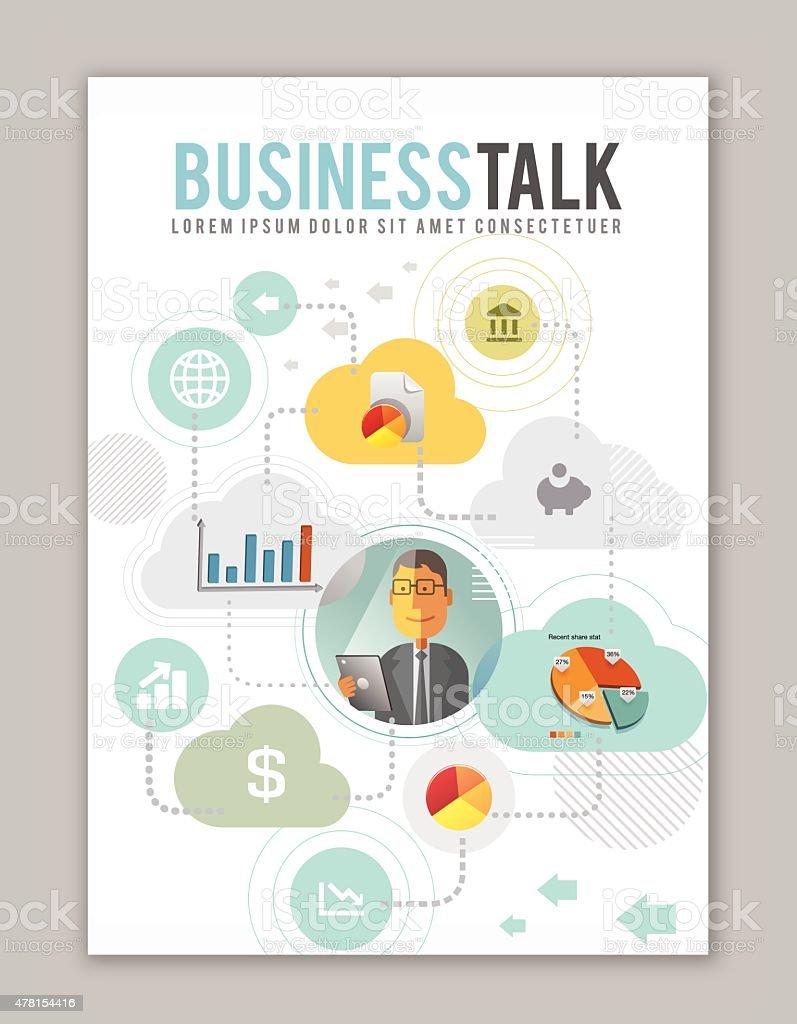 Business Talk. vector art illustration