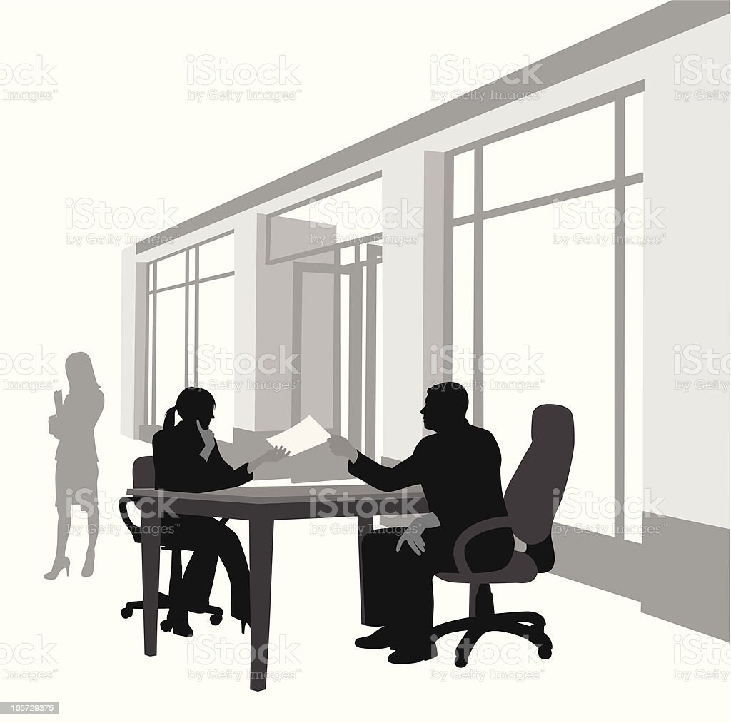 Business Talk Vector Silhouette royalty-free stock vector art