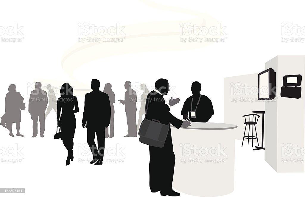 Business Talk Vector Silhouette vector art illustration