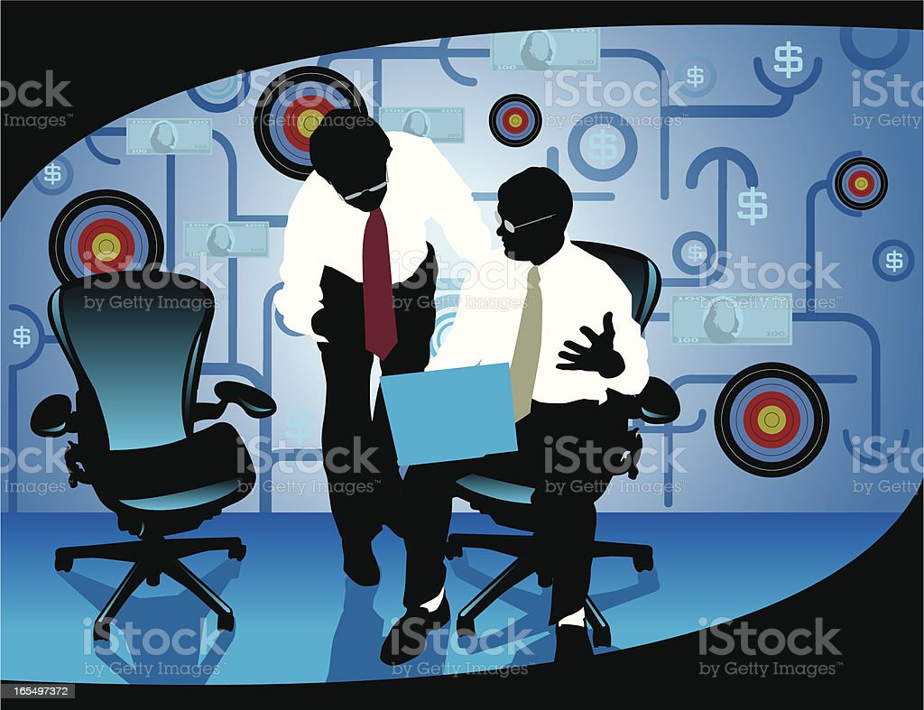 Business Target Meeting Discussion royalty-free stock vector art
