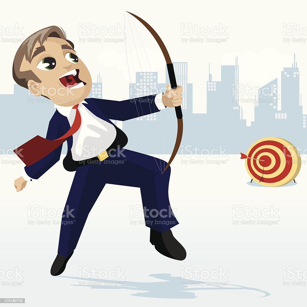 Business Target vector art illustration