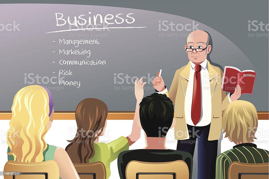 Business teacher royalty-free stock vector art