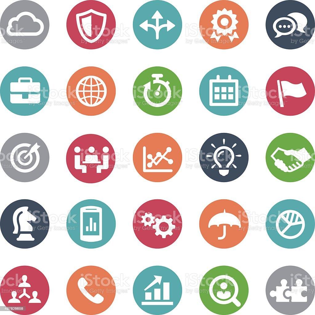 Business Team Icons - Bijou Series vector art illustration