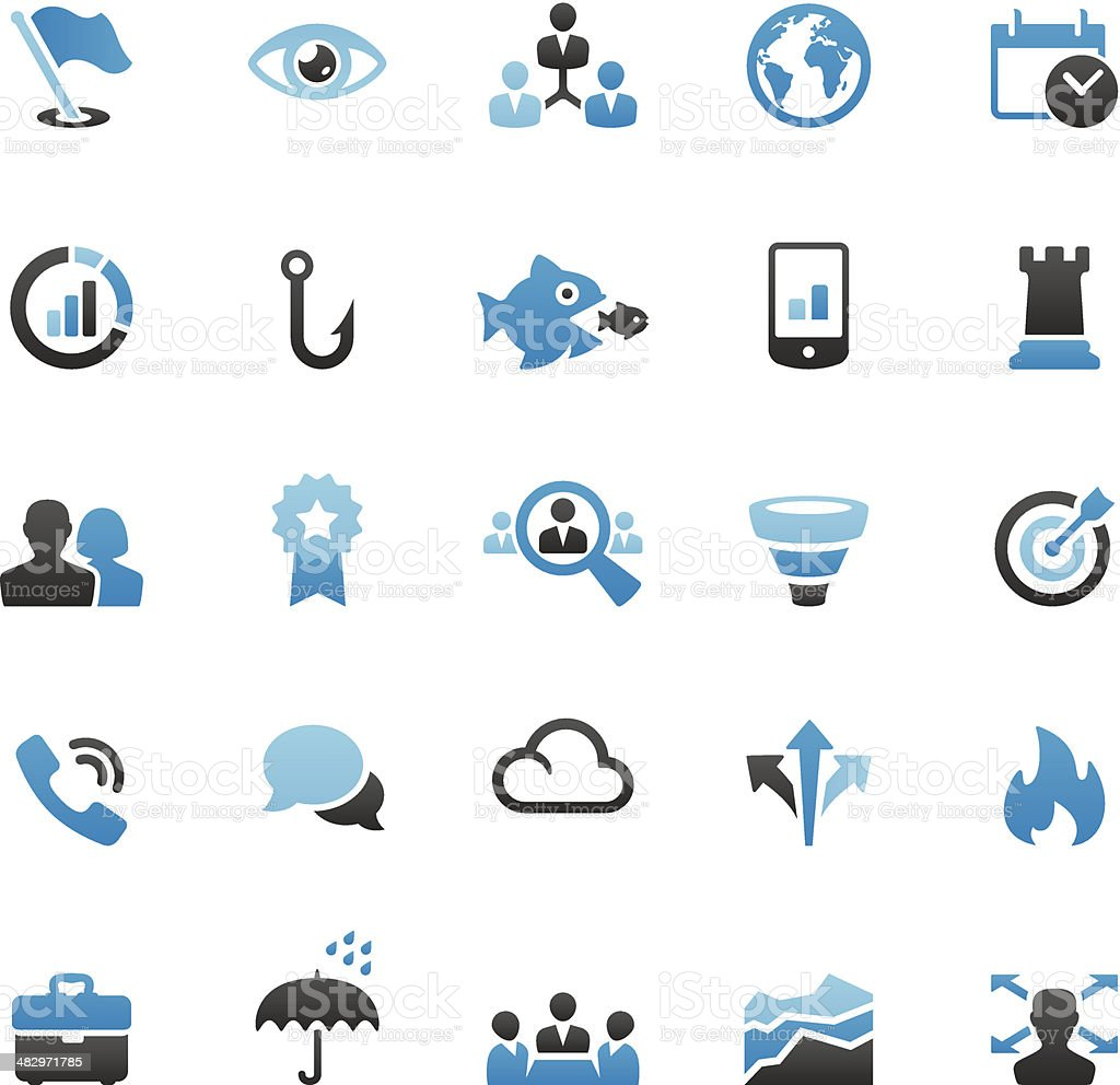 Business Team icons set vector art illustration