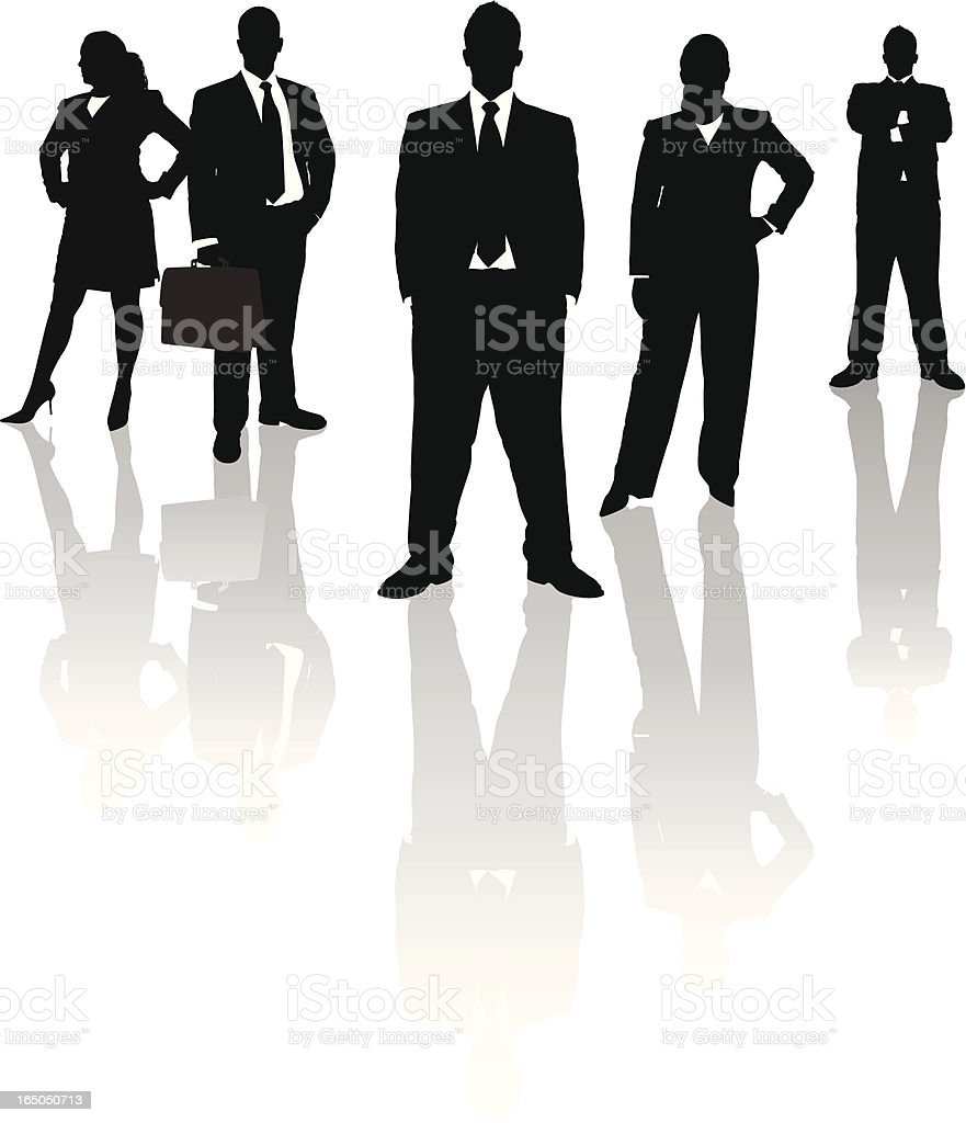 Business Team Reflection Series royalty-free stock vector art