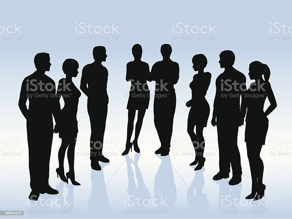 Business Team Silhouettes royalty-free stock vector art