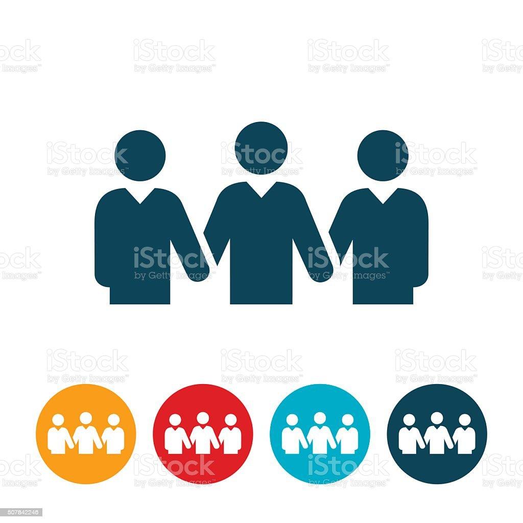 Business Team United Icon vector art illustration