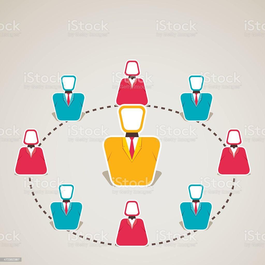 business team royalty-free stock vector art