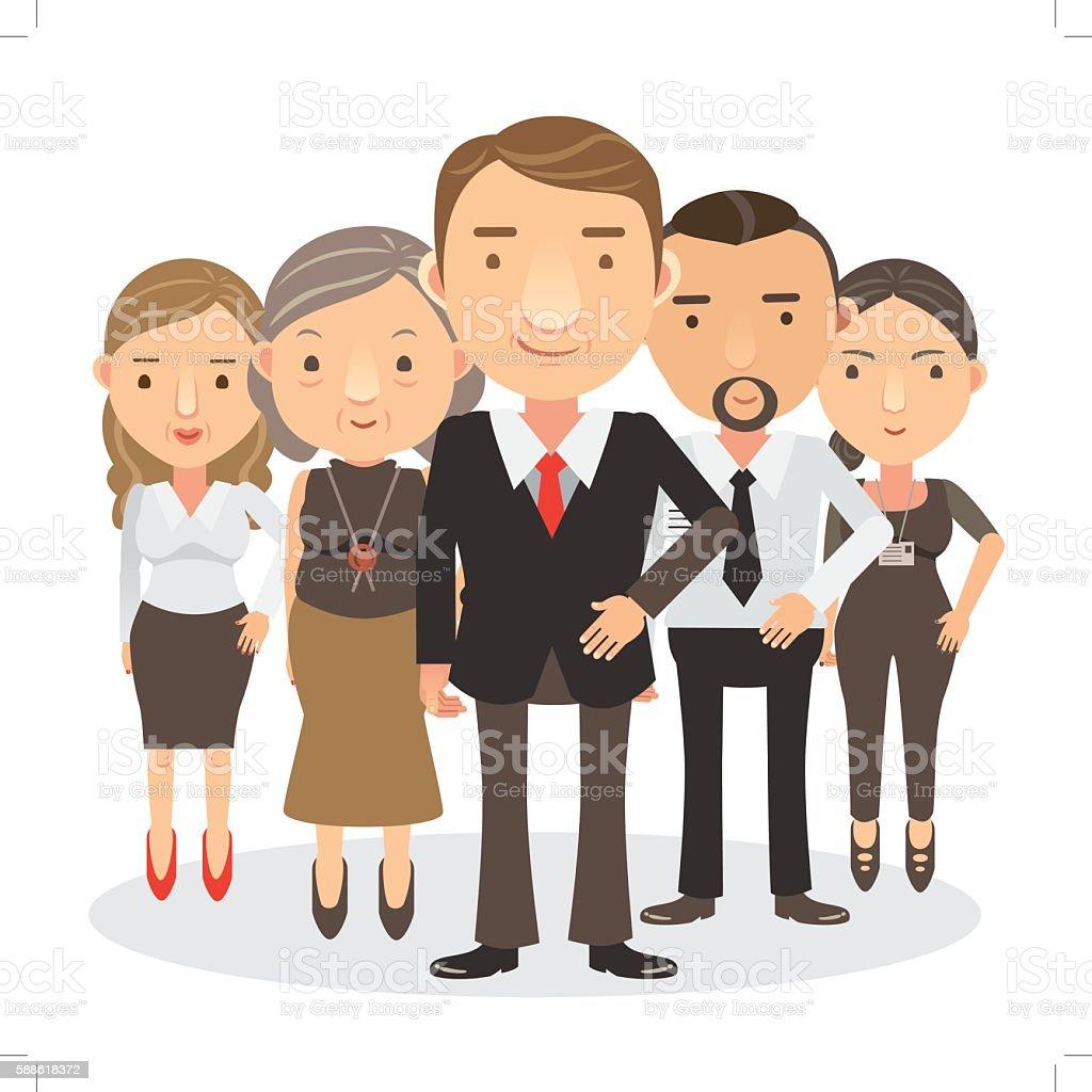 Team di Business  illustrazione royalty-free