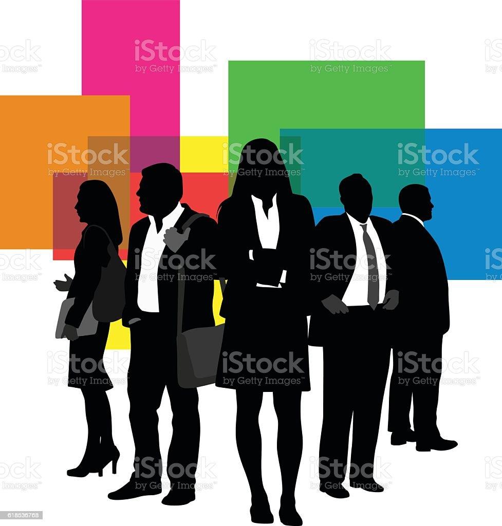 Business Teams vector art illustration