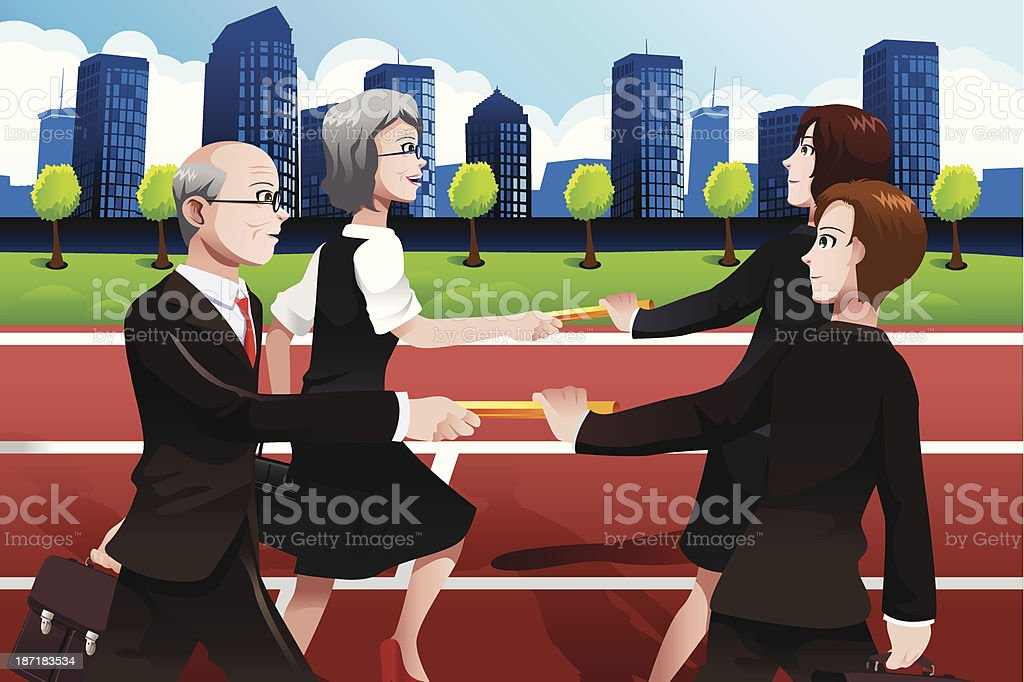 Business teamwork concept royalty-free stock vector art