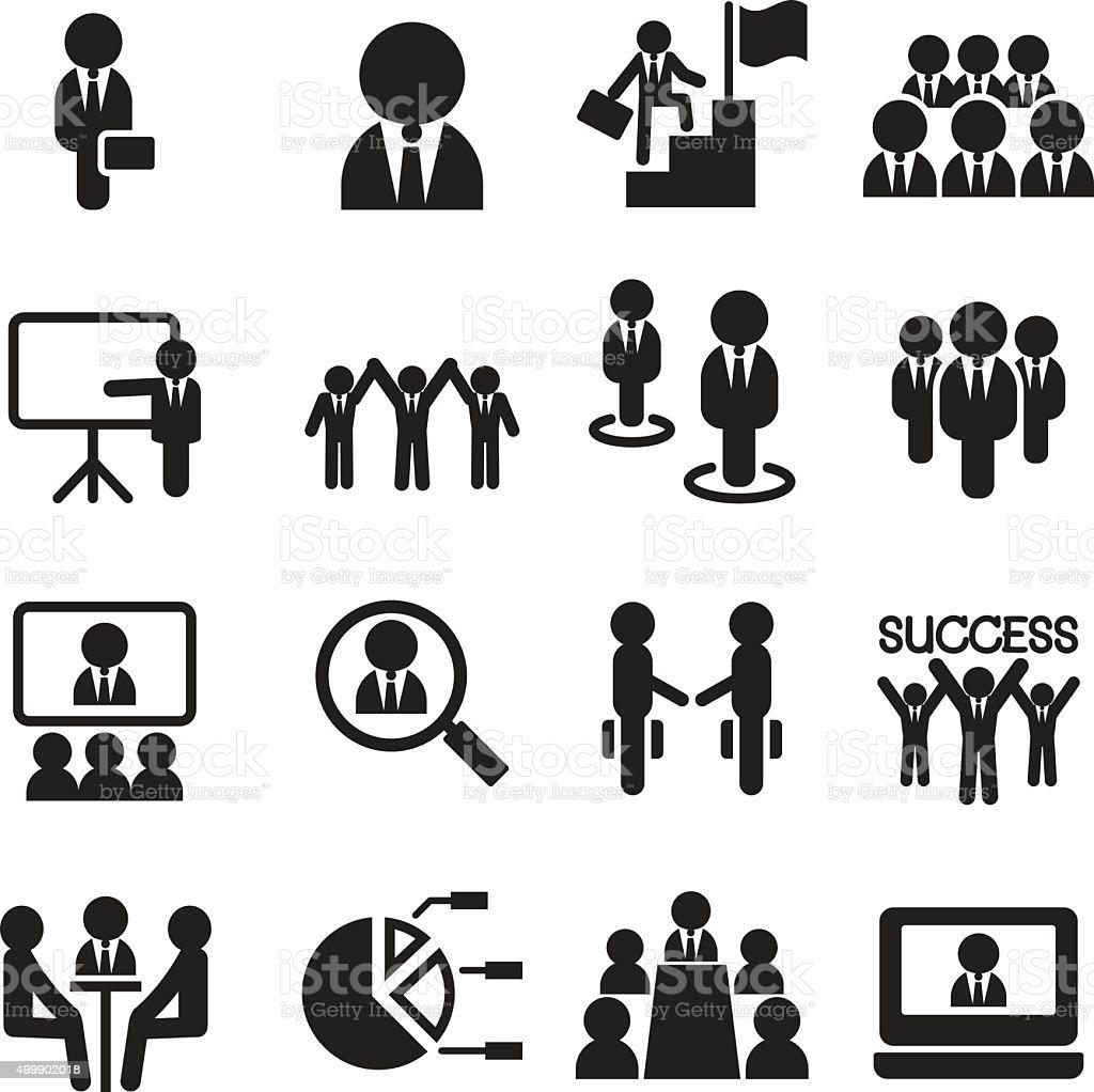 Business Teamwork, Training, Seminar, meeting, Conference, Succe vector art illustration