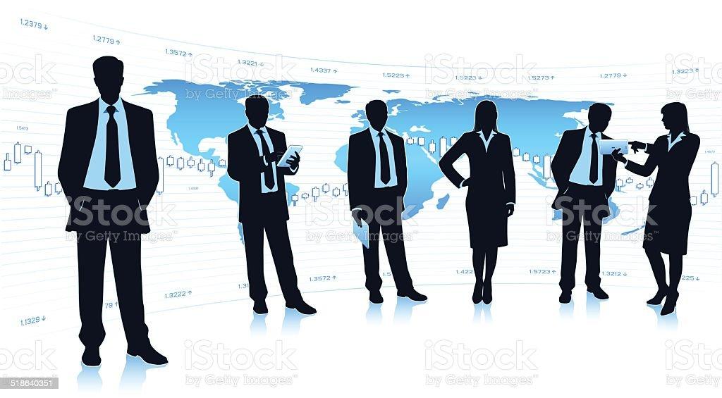 Business teamwork vector art illustration