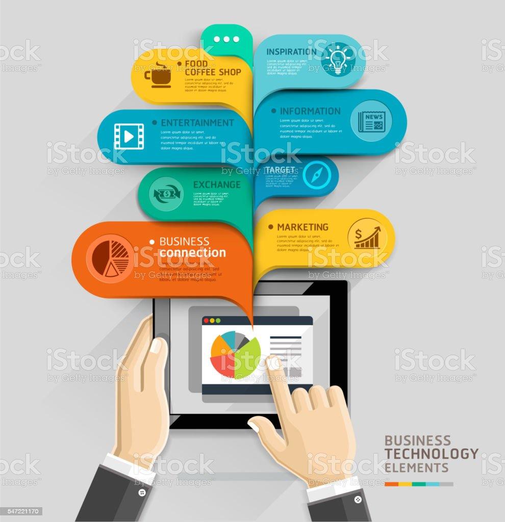 Business technology bubble speech template style. vector art illustration
