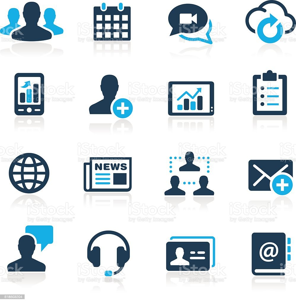 Business Technology Icons - Azure Series vector art illustration