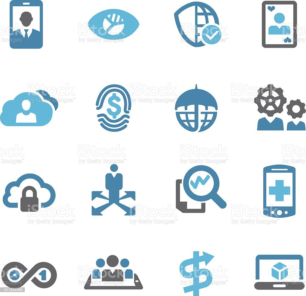 Business Technology Trends Icons - Conc Series vector art illustration