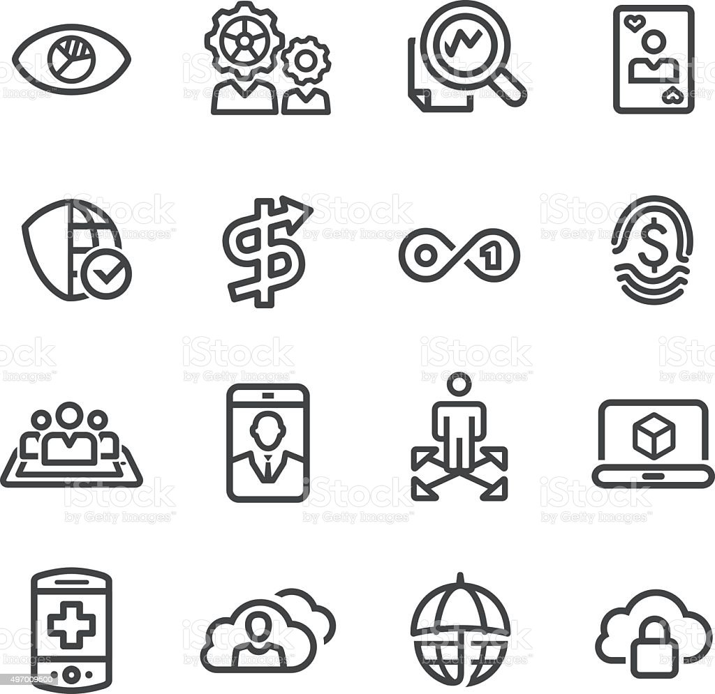 Business Technology Trends Icons - Line Series vector art illustration