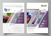Business template for brochure, flyer, report. Cover design, abstract vector
