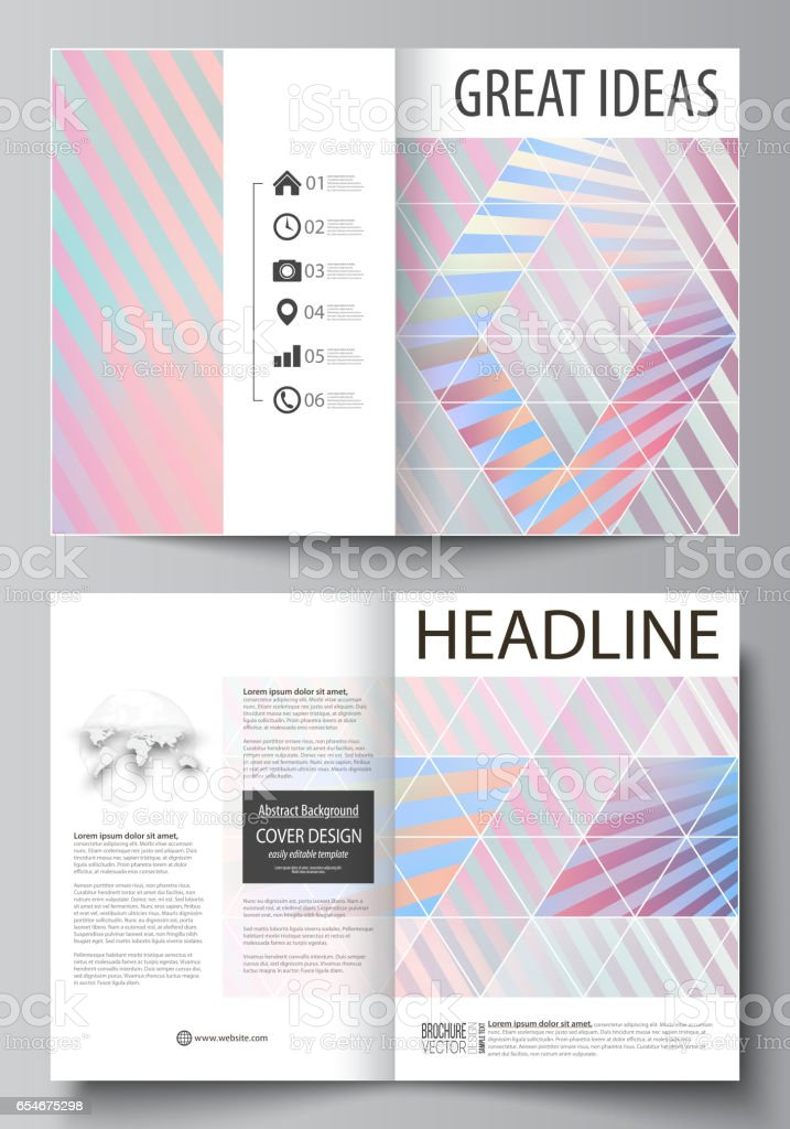 Business Templates For Bi Fold Brochure Flyer Booklet Or Report