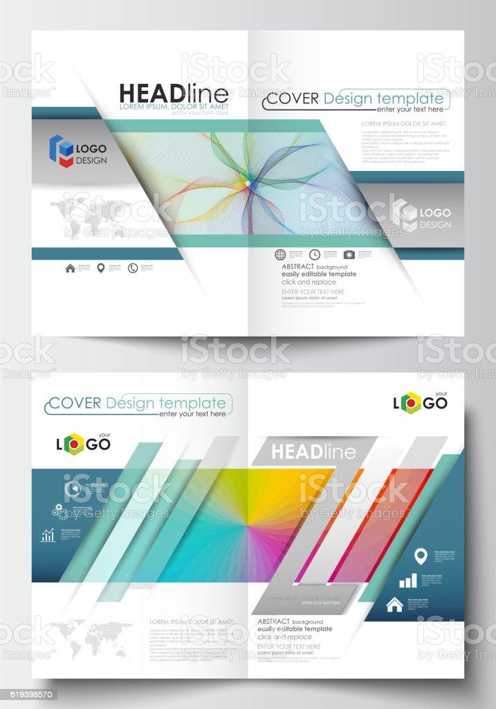Business templates for bi fold brochure, magazine, flyer. Cover...