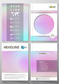 Business templates for brochure, flyer, report. Cover design template, vector