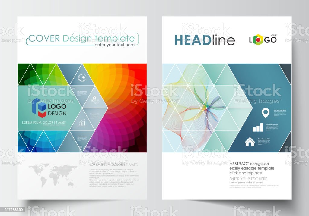 Business templates for brochure, magazine, flyer, annual report....