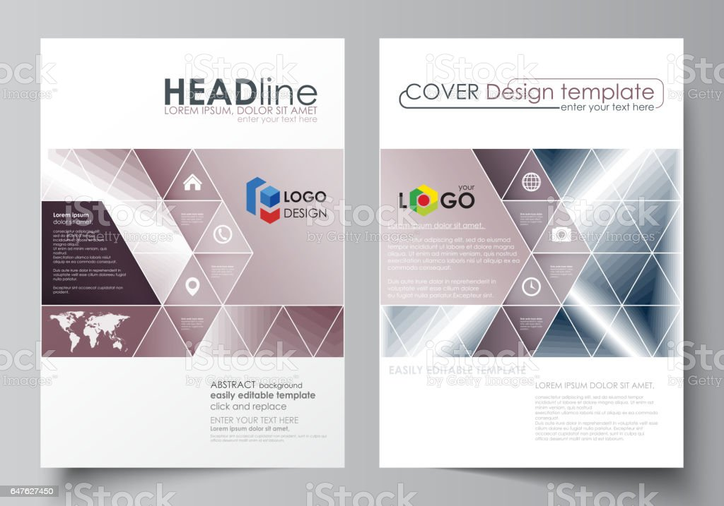 Business Templates For Brochure Magazine Flyer Annual Report Cover – Simple Annual Report Template