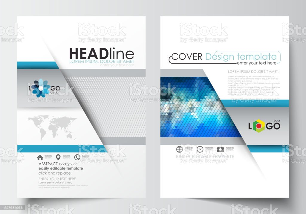 Business templates for brochure, magazine, flyer, booklet. Cover design template vector art illustration