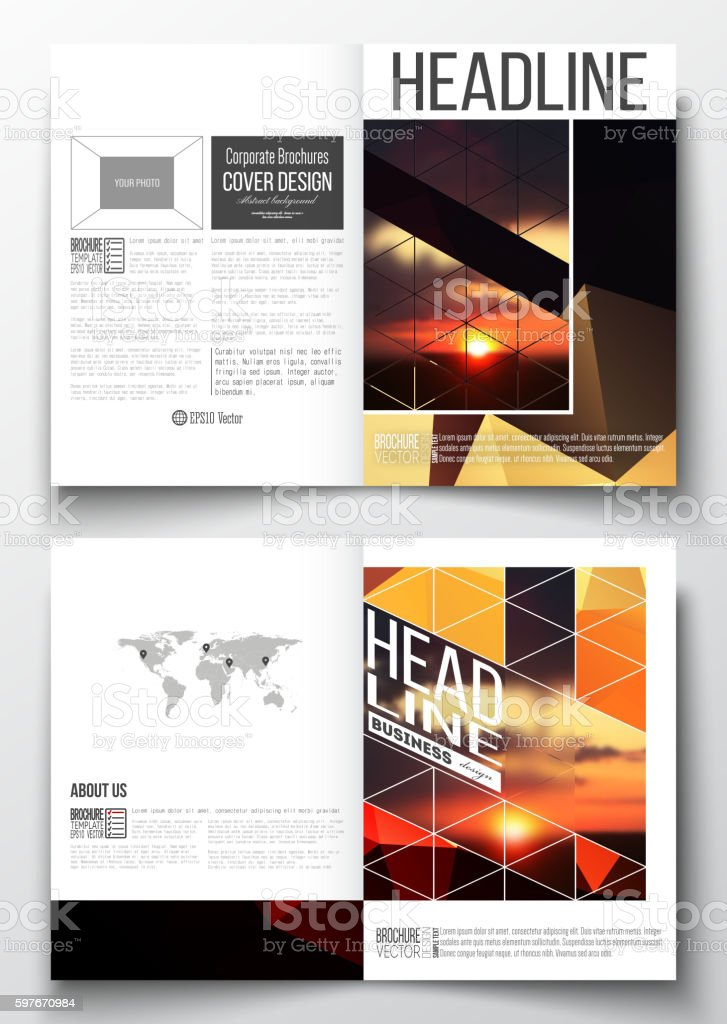 Set of business templates for brochure, magazine, flyer, booklet or...