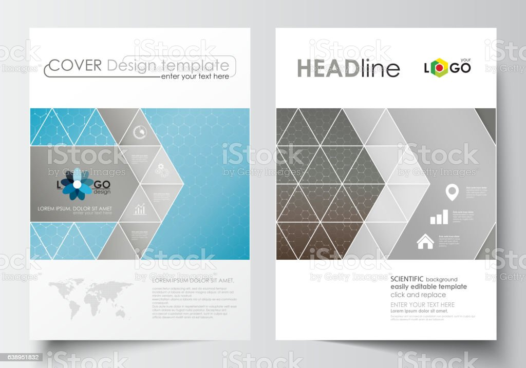 Business templates for brochure, magazine, flyer. Cover template, flat layout vector art illustration