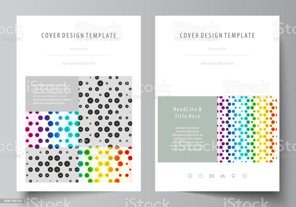 Business templates for brochure, magazine, flyer, report. Cover design template vector art illustration