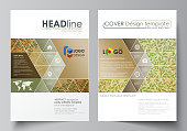 Business templates for brochure, magazine, flyer, report. Cover template, vector