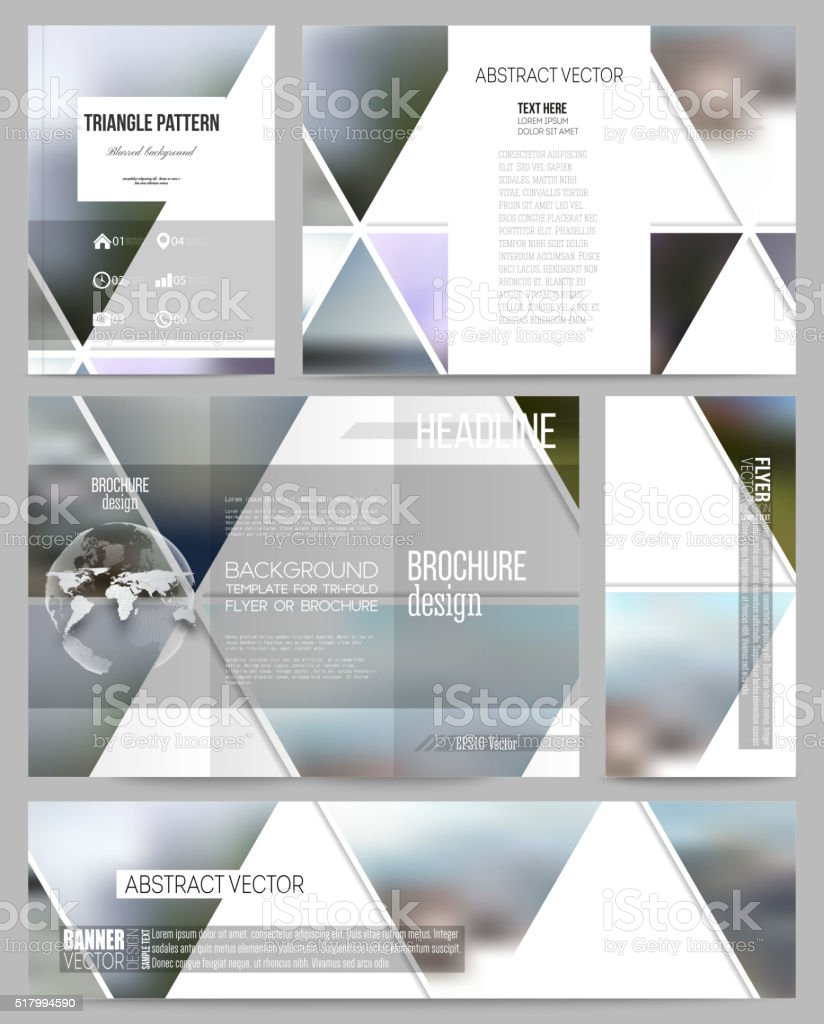 Business templates for presentation, brochure, flyer or booklet. Abstract multicolored vector art illustration
